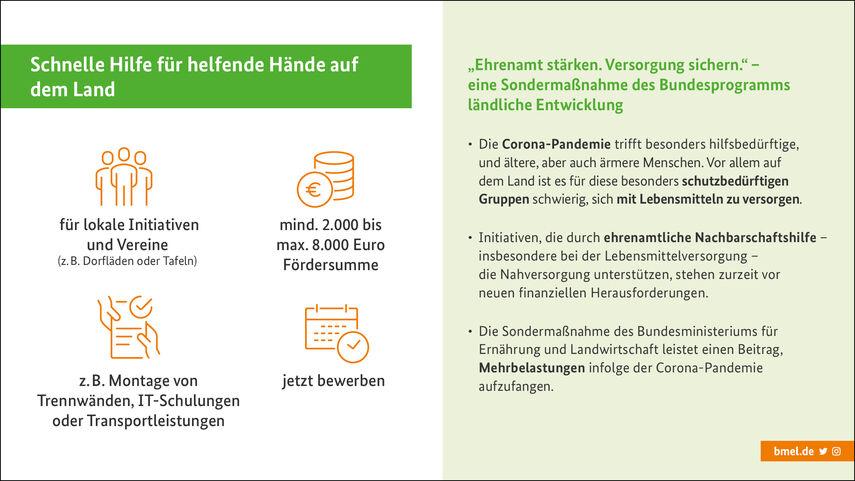 Grafik BMEL Förderprojekt Ehrenamt